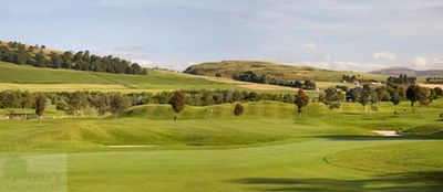 Glenisla Golf Club, Alyth, Perthshire. Glenisla Golf Club view of the course.