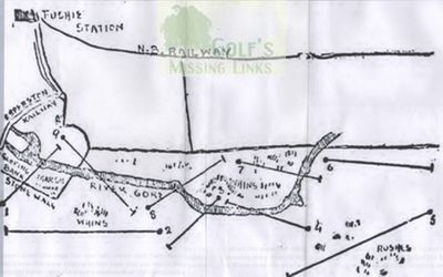 Gorebridge Golf Club, Midlothian. Course layout.