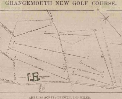 Grangemouth Golf Club, Falkirk. Layout of the original course.