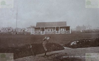 Grangemouth Golf Club, Falkirk. The earlier clubhouse and course.