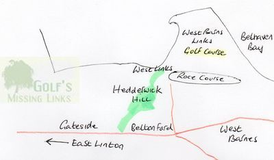 Hedderwick Hill Golf Course, East Lothian. Golf course location.
