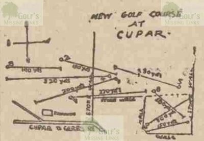 Hilltarvit Golf Club, Cupar, Fife. The revised layout of the course in 1898.