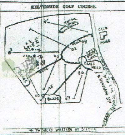 Kelvinside Golf Club, Glasgow. Course layout.