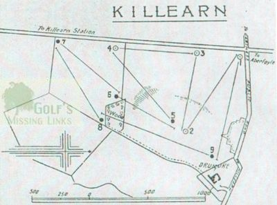 Killearn Golf Club, Stirling. Old Tom Morris course layout.