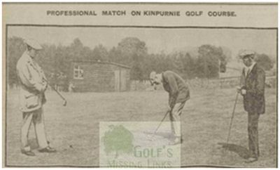 Kinpurnie Golf Club, Newtyle, Angus. The Professionals on the course.