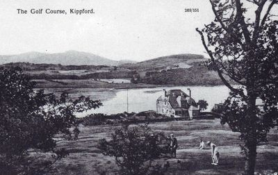 Kippford Golf Club, Dumfries & Gallowy. Postcard of the Kippford golf course