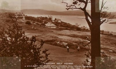 Kippford Golf Club, Dumfries & Galloway. View over the golf course.