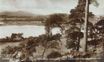Kippford Golf Club, Dumfries & Galloway. View of the golf course.