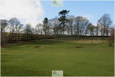 Letham Grange Golf Club, Arbroath. Approach to the first green in March 2020.