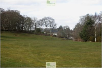 Letham Grange Golf Club, Arbroath. Approach to the third green in March 2020.