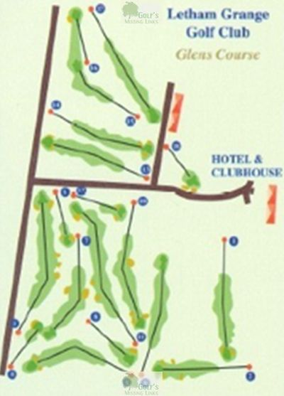 Letham Grange Golf Club, Arbroath. Course plan for the Glens Course.