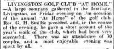Livingston Golf Club, West Lothian. Report on the year's work 1913.