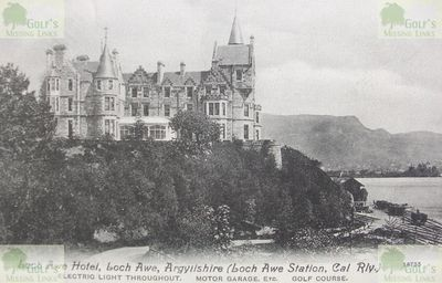 Lochawe and Dalmally Golf Club, Argyll & Bute. Postcard from the 1900s mentions the golf course.