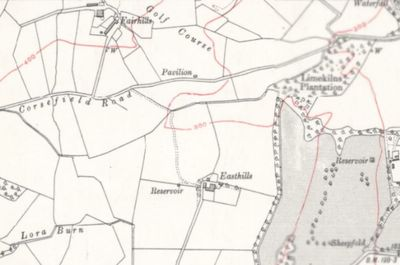 Lochwinnoch Golf Club, Renfrewsire. The former course marked on the 1915 O.S. map.