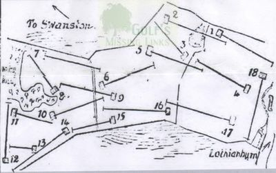 Lothianburn Golf Club, Edinburgh. Course layout in 1899.
