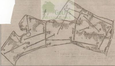 Lothianburn Golf Club, Edinburgh. Course layout in 1903.