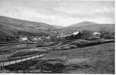 Lowthers Golf Club, Leadhills, South Lanarkshire. Postcard, dated 1932.