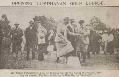 Lumphanan Golf Club, Aberdeenshire. The opening ceremony in July 1923.