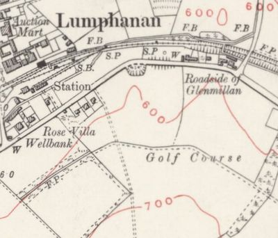Lumphanan Golf Club, Aberdeenshire. The course on the 1931 Ordnance Survey Map.