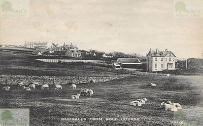 Muchalls Golf Club, Aberdeenshire. View of the course in the 1900s.