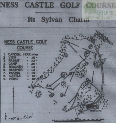 Ness Castle Golf Club, Inverness. Course layout.