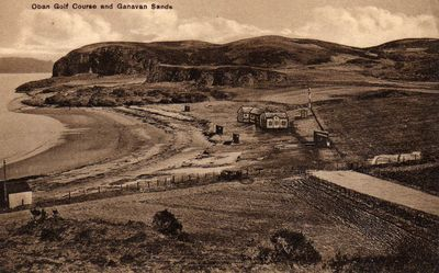Oban Golf Club, Ganavan, Argyll & Bute. View of the golf course.