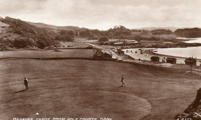 Oban Golf Club, Ganavan, Argyll & Bute. View over the golf course.