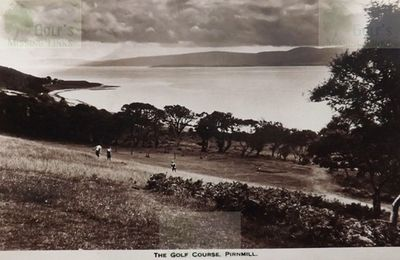 Pirnmill Golf Club, Arran. Postcard showing a later view of the course.
