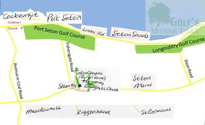 Port Seton Golf Club, Cockenzie, East Lothian. Revised map.