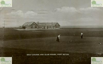 Port Seton Golf Club, Cockenzie, East Lothian. Postcard of the clubhouse and golf course.