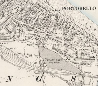 Portobello Golf Club, Edinburgh. The early course is shown on the 1896 O.S. map.