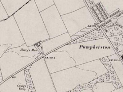 Pumpherston Golf Club, West Lothian. Ordnance Survey Map showing Harry's Muir location of the first course.