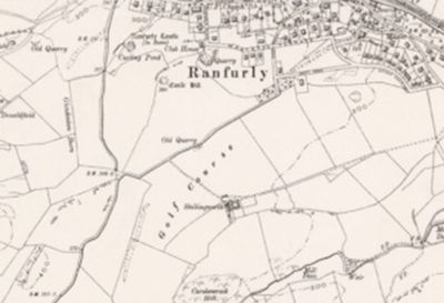Ranfurly castle Golf Club, Renfrewshire. The former Ranfurly Castle course on the 1898 O.S map.