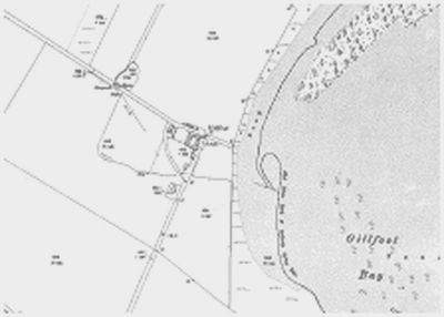 Southerness Golf Club, Dumfries & Galloway. Gillfoot on the 1909 Ordnance Survey Map.