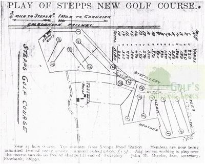 Stepps Golf Club, Lanarkshire. Plan of the new course.