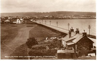 Stranraer Golf Club, Dumfries & Galloway. View of the former golf course.