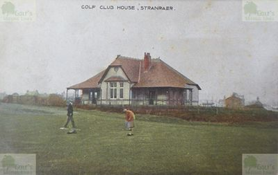 Stranraer Golf Club, Dumfries and Galloway. Early picture of the Stranraer clubhouse.