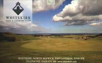 Whitekirk Golf & Country Club, North Berwick, East Lothian. Picture on course scorecard Local Rules.
