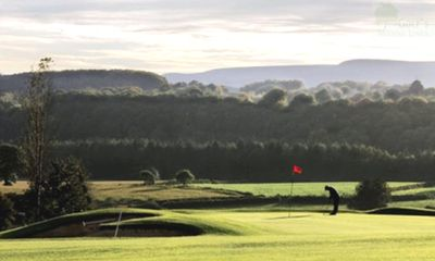 Alice Springs Golf Club, Usk, Monmouthshire. View of the course.