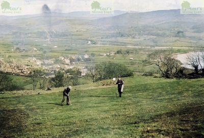 Bala Golf Club, Gwynedd. A view of the course on a postcard from the 1930s