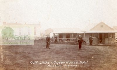 Barry Golf Club, The Leys, Gileston. Early postcard of the clubhouse.