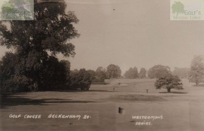 Beckenham Place Park Golf Club, London. Early picture of the golf course.