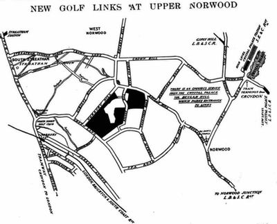 Beulah Hill Golf Club, Norbury, London. Report on the new club and course April 1913.