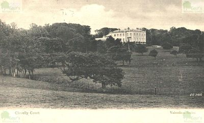 Clovelly Court Golf Course, Devon. Postcard from the 1900s showing Clovelly Court.