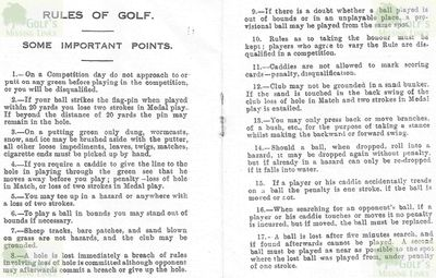 Epping Golf Club, Masons Bridge Farm. Booklet issued by the club in 1930s.